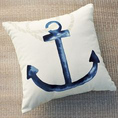 Outdoor anchor pillow by West Elm $39