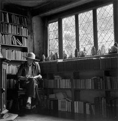 Vita Sackville-West reading at Sissinghurst Castle, date unknown.