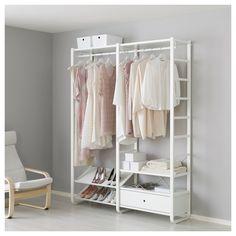 ELVARLI open storage unit white 165x40x216 cm | IKEA Bedroom