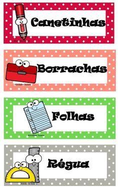 Etiquedas EM PDF - Atividades Adriana Just Love Me, Love My Job, Victoria School, Teacher Cartoon, Classroom Charts, School Frame, English Vocabulary, Classroom Organization, School Projects