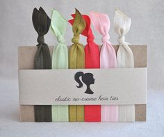 Elastic NoCrease Hair Ties Matching headbands by BashoreDesigns, $14.00