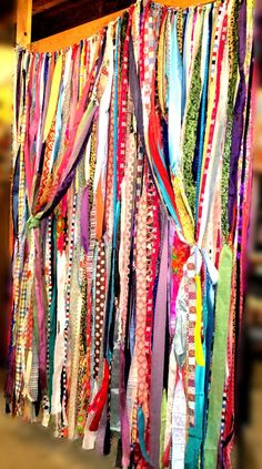 Boho Gypsy Fabric Garland Streamers - Curtain - Dorm, Teen Room ...