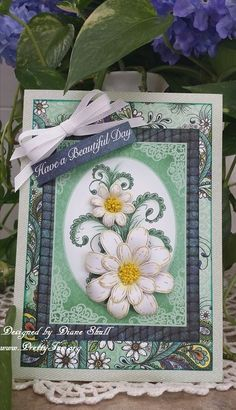 Beautiful day, all occasion card designed by Diane Shull using Heartfelt Creations Peacock Paisley Collection.