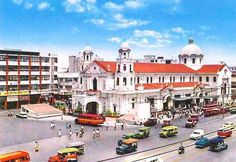 Pinoy Kollektor: Philippine Postcards from the (Manila, Makati, & Caloocan) Philippines Culture, Manila Philippines, Philippine Architecture, Makati, Historical Landmarks, Vacation Resorts, Photo Postcards, Pinoy, Cool Photos