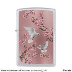 Blush Pink Doves and Blossoms Zippo Lighter