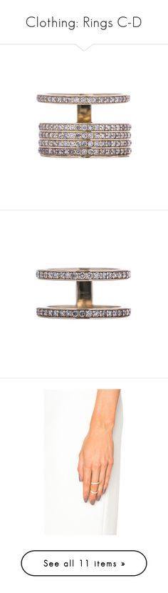 """""""Clothing: Rings C-D"""" by lavenderblush ❤ liked on Polyvore featuring jewelry, rings, 14 karat gold jewelry, 14k ring, halo diamond ring, 14k jewelry, 14 karat ring, mini rings, 14 karat gold ring and wide rings"""