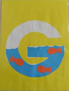 Letter of the week, create an art work that starts with the letter of the week preschool letter G