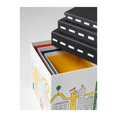 FLYTTBAR Box with lid - -