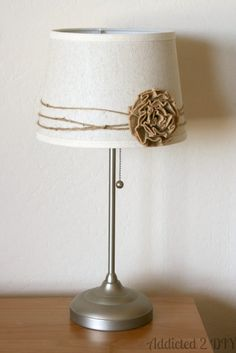 Simple Lamp Makeover – Ikea Hack - All For House İdeas Paper Lampshade, Lampshades, Decorate Lampshade, Painting Lamp Shades, Lamp Makeover, Contemporary Floor Lamps, Stained Glass Designs, Tiffany Lamps, Bedroom Lamps