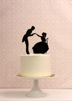 Wedding Cake Topper with Silhouettes   par Silhouetteweddings, $40.00