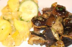 Pilze mit warmen Kartoffelsalat