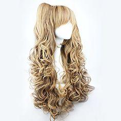 lolita parrucca riccia ispirato marrone gradiente carina doppia coda di cavallo principessa 70 centimetri – USD $ 24.99