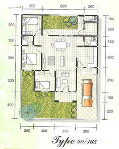 House minimalist small floor plans Ideas for 2020 Brick House Plans, House Floor Plans, Small Floor Plans, Small House Plans, Apartment Bedroom Decor, Apartment Design, Apartment Ideas, Facade Design, House Design