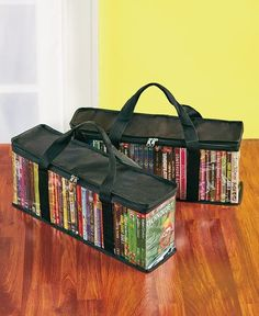Sets of 2 DVD Storage Bags BLACK MEDIA TRAVEL BAGS HOLD APPROX 40 DISC #Unbranded #Travel