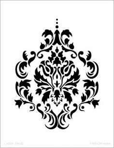 simple free black and white damask vector pattern backgrounds rh pinterest com damask clipart free damask clipart border free