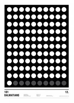 Minimalist movie poster created using only circles by Nicholas Barclay | My Modern Shop