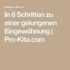 In 6 Schritten zu einer gelungenen Eingewöhnung   Pro-Kita.com