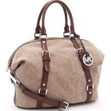 MICHAEL Michael Kors Large Bedford Satchel, Hemp/Mocha, amazing with this fashion bag! 2015  Michael kors B edford Handbags  Outlet Online shop   #Michael #kors #Bedford #Handbags  #Outlet #Online #shop
