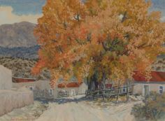 carl von hassler | ... Carl Von Hassler | Original Painting of Northern New Mexico Fall Scene