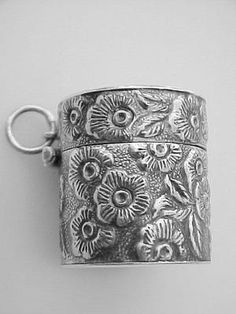 Vintage Style Floral Thimble Case - Sterling Silver | eBay
