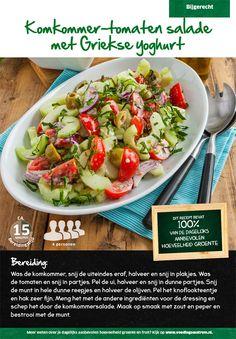 Recept voor komkommer-tomaten salade met Griekse yoghurt #Lidl