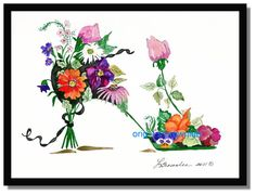 Original painting sold of this Festival Garden Shoe but prints are available.