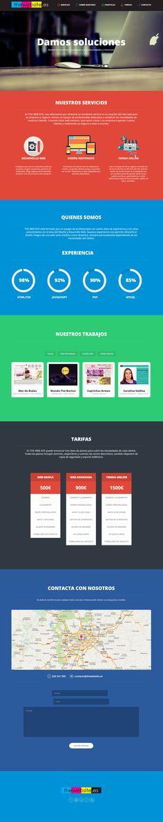 Diseño completo de nuestra web The Web Site. www.thewebsite.es