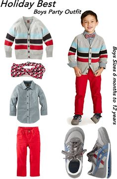 Holiday Best Boys Outfit - Sizes Baby 6-24  mo and Boys 2-12 yrs
