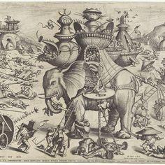 Belegering van de olifant, Anonymous, Alart du Hameel, Paul De la Houve, 1601 - Rijksmuseum