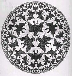 """""""Angels and Demons"""" MC Escher. Mc Escher, Escher Art, Drawn Art, Ange Demon, Angel And Devil, Albrecht Durer, Dutch Artists, Angels And Demons, Illustrations"""