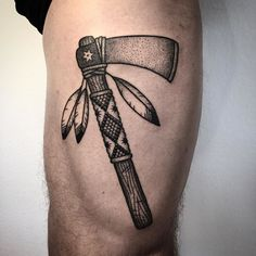 Big one for a first tattoo ! Thanks @fuini777 for the trust really enjoyed working with you ! #tomahawk #tattoo #bold #dotworktattoo #oldschooltattoo #traditionaltattoo #blackwork #blackworkerssubmission #blxckink #btattooing #tattoolife #blacktattoo #tttism #blacktoptattooing #tatouage #noir by shekenz