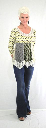 I'm thinking longer with leggings.  This would be fun to make with thrift store T's.