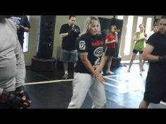 Krav Maga Elbow Strikes- master renee nolte I friggin love her!!