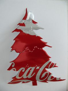 Recycled Soda Can - Coke Coca-Cola Drink Christmas Tree Ornament. $2.50, via Etsy.