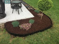 Pound-In Plastic Landscape Edging - Lawn Edging Landscaping Around Patio, Tropical Landscaping, Landscaping With Rocks, Landscaping Tips, Landscaping Equipment, Landscaping Contractors, Hillside Landscaping, Outdoor Patios, Outdoor Spaces