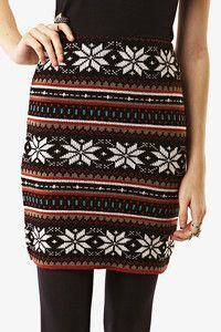 New Sexy Soft Knitted Nordic Aztec Snowflake Casual Pencil Mini Skirt | eBay