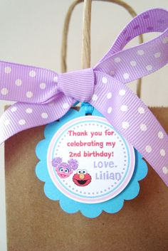 Elmo and Abby Birthday Personalized Favor Tags, Custom Hang Tags, Labels, Party Favors - Set of 12 on Etsy, $8.50