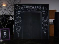 8 foot chalkboard for pictures
