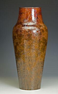 #CAPCA |  Bruce Gholson | Bulldog Pottery | Seagrove, North Carolina |  molybdenum crystalline glaze