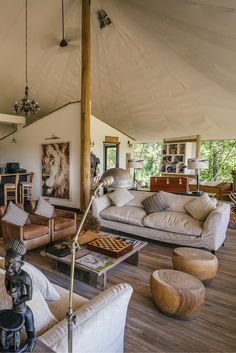 This is the ultimate in glamping - Sanctuary Stanley's Camp, Botswana- Love the color palette / travel Glamping, Tent Camping, Camping Tips, Outdoor Camping, Yurt Living, Tiny Living, Luxury Tents, Luxury Camping, Yurt Home