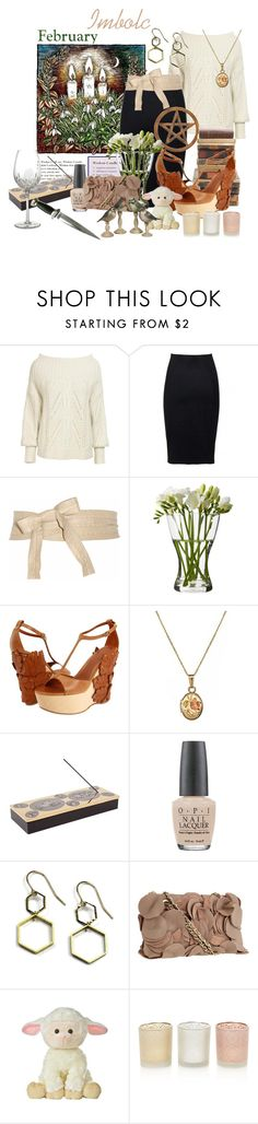 """""""Imbolc"""" by sarah-emilie-rose ❤ liked on Polyvore featuring Reiss, Nicole Farhi, Donna Karan, Alexander McQueen, J Weber, Fornasetti, OPI, DKNY, Waterford and Monsoon"""