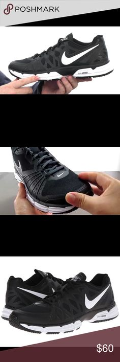 """NWOT🔥Nike Dual Fusion TR 6 The Nike Dual Fusion TR 6 Athletic feature a Synthetic upper with a Round Toe . The Man-Made outsole lends lasting traction and wear.  704889 001 Brand Color: Black/White- Metallic Silver-PR Platinum (Main Color: Black) Material: Synthetic Measurements: 1"""" heel Nike Shoes Athletic Shoes"""