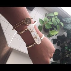 """Chunky Raw Quartz Metal Cuff Bracelet Gold, metal cuff bracelet with clear, raw Quartz centered with gold wire. 2"""" H. 3 Bracelets Available! Please contact me if interested and I will make a new listing for you!✨ Farah Jewelry Jewelry Bracelets"""