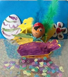 What a fantastic Easter pirate egg & chicken boat by Raiden 8. #Easter #Craft