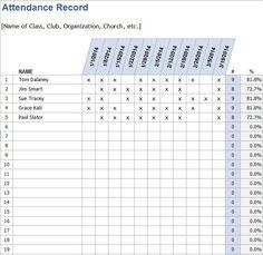 day care attendance sheet stationary templates pinterest