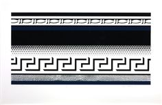 Artist Roy Lichtenstein 1923–1997 Title Entablature VII From Entablature Date 1976 Medium Screenprint and silver foils on paper Dimensions Image: 500 x 963 mm Collection Tate Acquisition Presented by the American Fund for the Tate Gallery 2000 Reference P78377