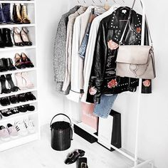 If your dorm doesn't have much closet space, this moveable rack is amazing. Closet Vanity, Wardrobe Closet, Room Closet, Closet Space, Basement Closet, Open Wardrobe, Beauty Room, Diy Bedroom Decor, Home Decor