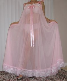 Sheer Lingerie, Vintage Lingerie, Women Lingerie, Satin Sleepwear, Lingerie Drawer, Night Gown, Pretty In Pink, Baby Dolls, Tulle
