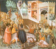 PIETRO LORENZETTI Entrada de Cristo en Jerusalén. 1320-1330. basilica s fco Asís