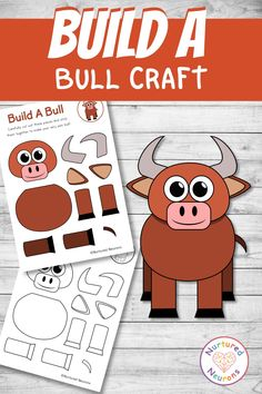 This simple bull craft is bound to be a hit with any farmyard fans out there! It's also a great way to develop those cutting, sticking and fine motor skills. There's color and black and white bull templates included in the pack and you can grab them over at Nurtured Neurons! #bulls #farmcrafts #preschoolcrafts #kindergartencrafts #farmyard #farmactivities #preschoolfarm #simplecrafts #animalcrafts Farm Activities, Toddler Activities, Kindergarten Crafts, Preschool Crafts, Parenting Toddlers, Parenting Tips, Farm Crafts, Cut And Paste, Neurons